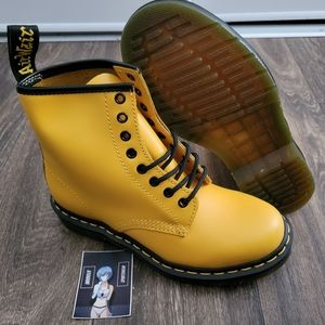 Dr. Martens 1460 8-Eyelet Lace Up Boots Yellow
